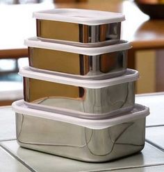 stainless steel food containers - the tip of the iceberg when it comes to green kitchen products Kitchen Items, Kitchen Utensils, Kitchen Gadgets, Kitchen Storage, Food Storage, Kitchen Appliances, Kitchen Products, Kitchen Stuff, Kitchen Tools