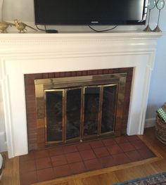 How to Paint Tile - Easy Fireplace Paint Makeover | Paint ...