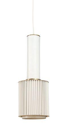 Alvar Aalto model A111 - metal pendant light - white and brass