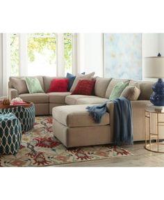 radley fabric sectional sofa collection created for macyu0027s living room - Macys Living Room Furniture
