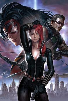 The Avengers, Spider-Woman, Black Widow & Hawkeye Marvel Dc Comics, Heros Comics, Hq Marvel, Marvel Heroes, Marvel Women, Marvel Girls, Comics Girls, Comic Book Characters, Marvel Characters