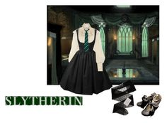 """Slytherin"" by airastona ❤ liked on Polyvore featuring Ralph Lauren Collection and Gerbe"