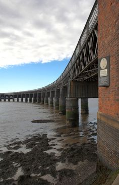 Picture - The Tay Rail Bridge in Dundee, Scotland. Scotland Sightseeing, Dundee City, Study Abroad, Great Britain, Glasgow, Places Ive Been, Beautiful Places, Scenery, Places To Visit