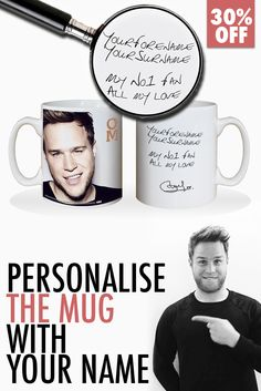 SPECIAL OFFER: Get your Olly Murs Mug - personalized with your name. Only on Facebook! DEAL LINK ~ bit.ly/1HQiIN4 #Olly #OllyMurs #BritainsGotTalent #murs #mursarmy #XFactor