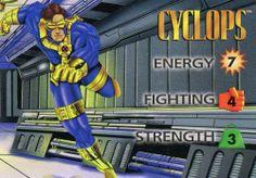 RARE 1995 FLEER MARVEL COMICS OVER POWER COLLECTIBLE CARD GAME CYCLOPS MINT