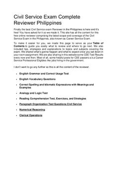 Civil service exam complete reviewer philippines 2017 (1) Lesson Plan In Filipino, Civil Service Reviewer, Exam Review, Final Exams, English Grammar, Civilization, Personal Development, Philippines, School Dresses