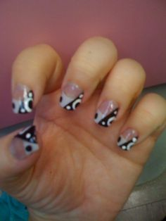 Edgy twist on French tips