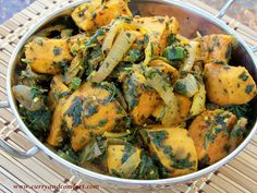 Curry and Comfort: Spicy Sweet Potato and Spinach Curry