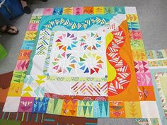 Philadelphia Modern Quilt Guild: Round Robin Challenge.  With Sarah Bond and Janet Perry.