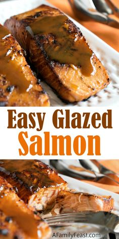 The best, easy Glazed Salmon recipe!