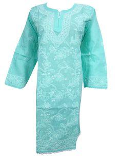 Womens Tunic Dress Kaftan White Mantra Printed Indian Yoga Kurta Dress Lounger M