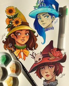 Wiccan Witch, Type I, Weird Art, Cool Art, Character Design, Princess Zelda, Photo And Video, Gouache, Illustrations