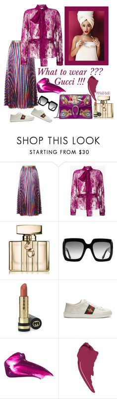 """What to wear ??? Gucci !!!"" by marastyle ❤ liked on Polyvore featuring Gucci, Balenciaga and Givenchy"