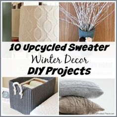 10 Upcycled Sweater Winter Decor DIY Projects