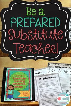 Are you going to be substitute teaching this year? Substitute teaching can be a lot of fun, but it is also the type of job where you need to be ready to jump right in