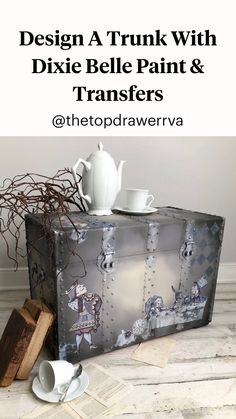 Furniture Fix, Decoupage Furniture, Chalk Paint Furniture, Refurbished Furniture, Furniture Makeover, Furniture Design, Distressing Chalk Paint, Jewelry Box Makeover, Wall Painting Decor