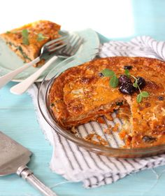 Pizza Quiche -- crust from sweet potatoes