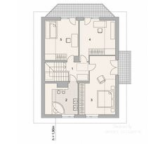 Projekt domu LK&731 Three Bedroom House Plan, Home Design Plans, Larp, Sweet Home, Floor Plans, House Design, How To Plan, Modern Houses, Trendy Tree