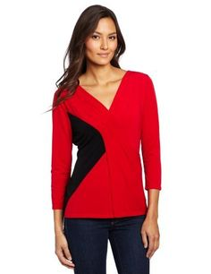 Calvin Klein Women's 3/4 Sleeve Colorblock Top Calvin Klein. $59.50. 95% Polyester/5% Spandex. Machine wash. Msy 3/4sleeve color block top. Made in China