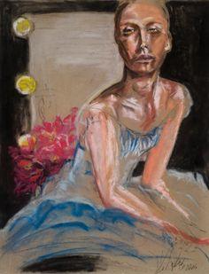 Original painting, Yvette Leihgeber pastel, figurative art, ballet art,  chic art, degas style art by yvetteleihgeberart on Etsy