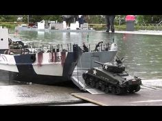 ▶ RC Boat - Landing Craft and Tanks at ASK Show Case 2014 - YouTube