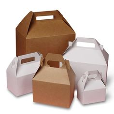 """""""10 ct Mini Kraft Gable Boxes 4 X 2-1/2 X 2-1/2 inches Gift Party Favor Wedding Bridesmaid Catering Birthday Holiday eco friendly These eco-friendly mini kraft gable boxes are made from recycled cardboard. Gable boxes are one piece and feature a unique gable handle top, easy assemble bottom, and kraft brown interior. Perfect gift and favor packaging for Holiday's, Birthday's, Weddings, Showers, Baked Goods, Catering, Mini Gift Baskets, etc. Easily add custom labels and stamps or other embellishm Wedding Gift Bags, Wedding Welcome Bags, Wedding Party Favors, Wedding Souvenir, Diy Wedding, Nautical Wedding, Wedding Weekend, Wedding Catering, Mini Kraft"""