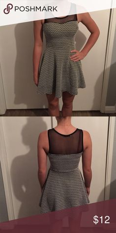 Whimsical Pattern Dress 55% cotton, 44% polyester, 3% spandex. This casual dress offers a breathable top! Only worn 2 to semi formal events! Papaya Dresses