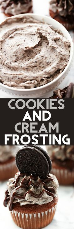 This Cookies and Cream Frosting is divine! It is packed cookies and is a perfect frosting for cakes, cookies, brownies, etc! It will become a new favorite!