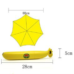 Banana Umbrella Um-banana Yellow  Novelty Umbrella High Quality Brand Banana Shaped Clear Rain Umbrellas Free Shipping CLSK