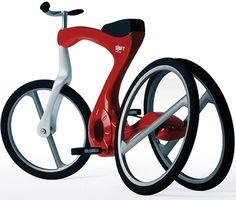 Interesante diseño... pero y los frenos? las ruedas de atrás no creo que le den mucha estabilidad en altas velocidades...
