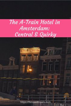 The A-train Hotel in Amsterdam is located opposite the Amsterdam Centraal Station. Find out if it is worth staying at this central and quirky hotel. via @focusedtravels Amsterdam Breakfast, Hotel Breakfast, Breakfast Buffet, Amsterdam Canals, Hotel Amsterdam, Dutch Wooden Shoes, Triple Room, Small Fridges, Visit Amsterdam