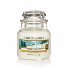 Clean Cotton® : Small Jar Candle : Yankee Candle