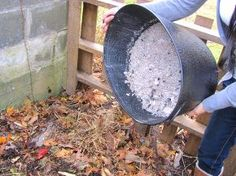 what to do with fireplace ashes, fireplaces mantels, repurposing upcycling, Sprinkling ashes in the compost