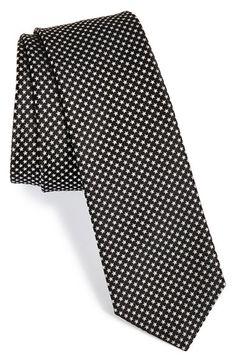 Men's Paul Smith Stars Silk Tie - Black