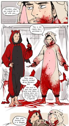 For @belladonnaq's Halloween prompt fest~ An anon request for Hannigram murdering in kigurumi~ Also bonus: how does hannibal know about kigurumi tho?
