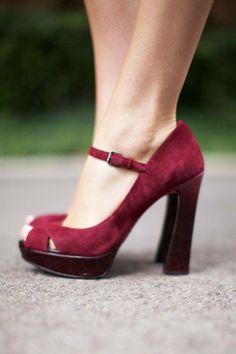 #High heeled Mary Janes.