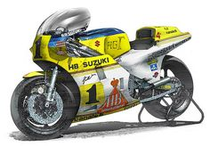 Suzuki RG Gamma #MotoArt #Suzuki #RGGamma #Racing #RacingBike http://goodhal.blogspot.com/2013/02/moto-art-009.html