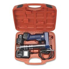 Cordless Rechargeable Grease Gun | 2 x 12V Battery Automotive Mechanics Tool -- Continue to the product at the image link.