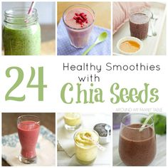 Green smoothies are all the rage these days, but even more popular is the use of chia seeds in smoothies....like these 24 Healthy Smoothies with Chia Seeds.  #beyondthescale #weightwatchers #WWsponsored