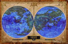 From the AEGIS Interplanetary Sourcebook for the Airship Daedalus pulp adventure RPG Adventure Rpg, Venus, Westerns, Ocean, Map, Location Map, The Ocean, Maps, Sea