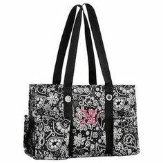 Thirty-One ORGANIZING Utility TOTE Black PAISLEY Parade! Retired BEACH New! NWT