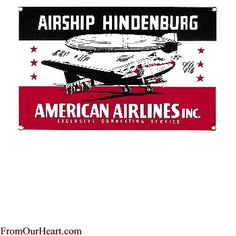 AA Hindenburg Porcelain Sign by Ande Rooney. Measures 12 1/2 x 8. $17.00