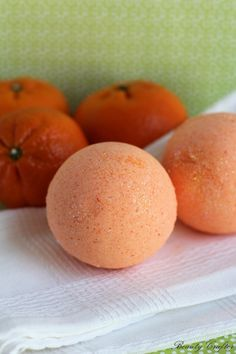 Orange Bath Bombs Recipe (1/2 cup Citric Acid, 1 cup Baking Soda, 1/2 cup Cornstarch, 1/4 cup Epsom Salt, 2 tablespoons Sweet Almond Oil, 1/2 teaspoon Filtered Water, 1/2 teaspoon Orange Essential Oil) *** Recipe Adjustment 1/2 teaspoon Instead of 1 tablespoon Filtered Water