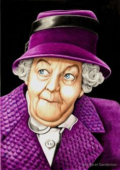 Margaret Rutherford plays Miss Jane Marple by Margaret Sanderson