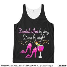 AWESOME DENTAL ASSISTANCE DIVA DESIGN All-Over PRINT TANK TOP Tank Tops