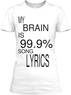 Discover Song Sign Women's T-Shirt, a custom product made just for you by Teespring. - My Brain Is Song Lyrics England Shirt, Usa People, 9 Songs, Usa Shirt, International Fashion, Music Lovers, Song Lyrics, Types Of Shirts, Shirt Style