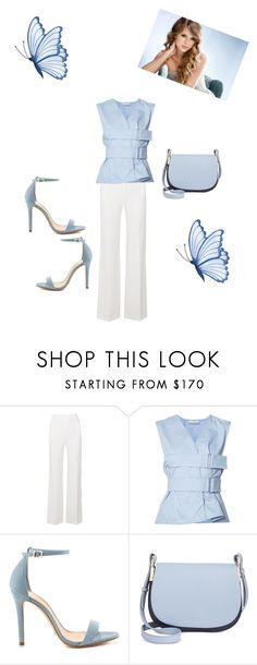 """Who Says I Have The Blues"" by kimberlydalessandro ❤ liked on Polyvore featuring Roland Mouret, Paco Rabanne, Schutz and Tommy Hilfiger"