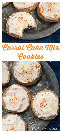 Carrot Cake Mix Cookies  - My Cooking Spot