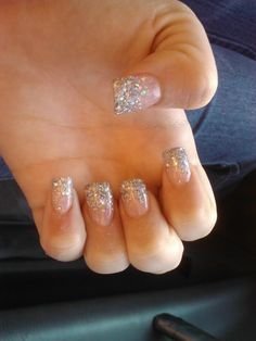 Might do these nails for prom....i love glitter