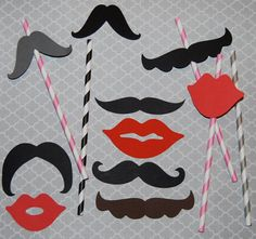 http://www.etsy.com/listing/112228141/25-mixed-mustaches-lip-cut-outs-photo